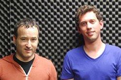 Rick Lupert and Matt Gottesman at the KPC Radio show Speakeasy