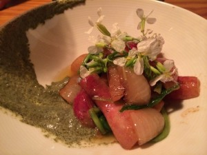 Roasted Radish with Nori Emulsion