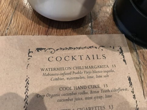 Enticing Cocktail Menu