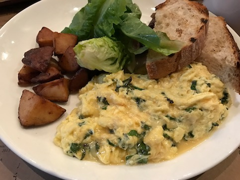 Kale and Gruyere Scramble